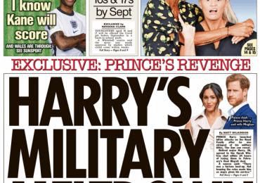 The Sun - Harry's military meltdown