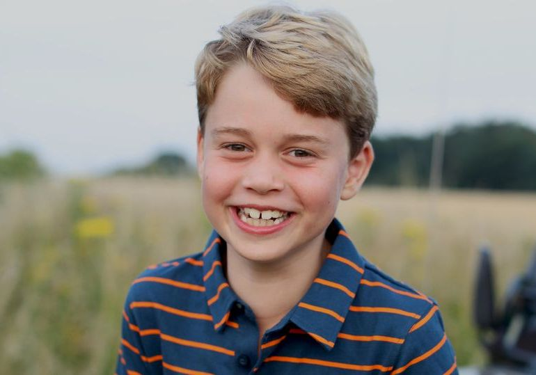 Prince George grins in eighth birthday photo with a sweet nod to Prince Philip