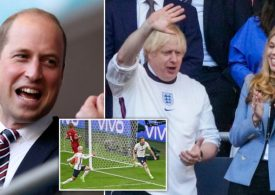 Boris and Prince William celebrate at Wembley as Three Lions make it to Euro final