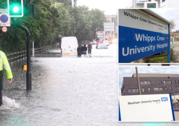 Major incident declared as emergency departments flooded at two hospitals