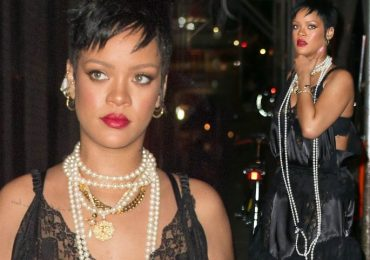 Rihanna flashes legs and sculpted back in New York City