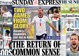 Sunday Papers: Euro 2020 -England roar in Rome - End of Covid restrictions