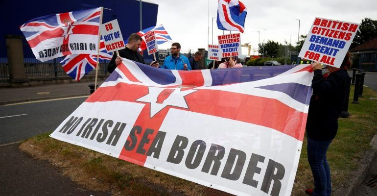 UK demands 'significant' renegotiation of its own Brexit deal on Northern Ireland