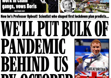 Daily Express - 'Pandemic behind us by October'