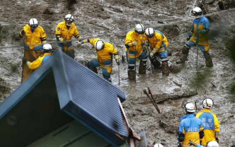 Number of missing in Japan landslide climbs to more than 100