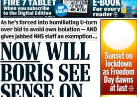 Daily Mail - Now will Boris see sense on COVID-19