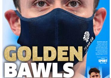 The Metro - Tokyo 2020: Tom Daley 'Golden Bawls'