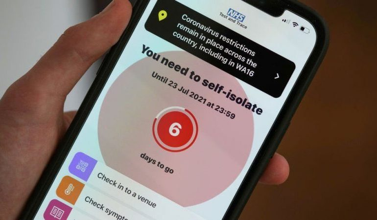 Pingdemic: 689,313 alerts sent from NHS app in a week