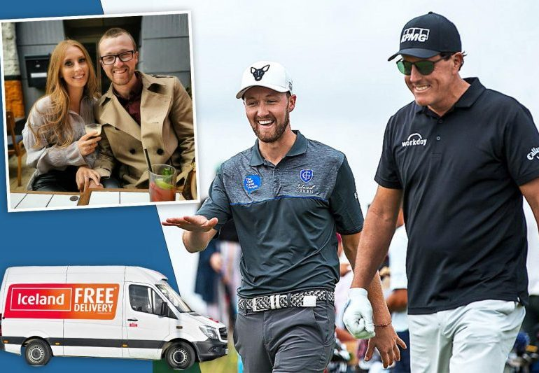 Iceland man Nick Poppleton plays it cool with Phil Mickelson