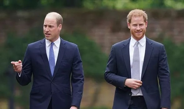 Harry 'turned feet' to face William at the unveiling of the Diana statue, William 'didn't respond.'