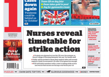The i - 'Nurses reveal timetable for strike'