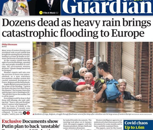 The Guardian - Dozens dead after flooding in Europe