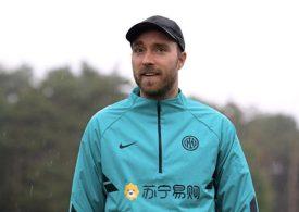 Christian Eriksen returns to Inter Milan for first time since cardiac arrest