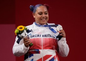 Emily Campbell: Team GB weightlifter hopes her historic medal can 'inspire people to follow their dreams'
