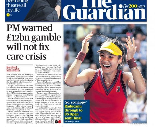The Guardian - 'PM warned £12bn will not fix crisis'