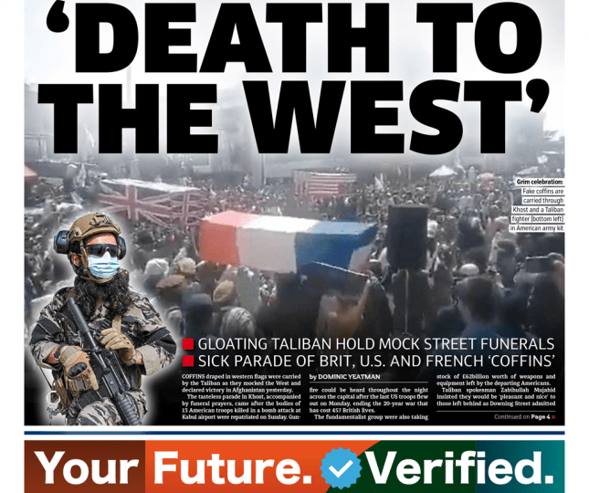 The Metro - 'Death to the West: Taliban hold mock funerals for the West'