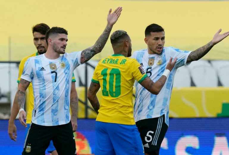 Brazil-Argentina World Cup Qualifier halted by COVID-19