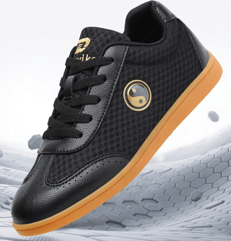 Breathable Summer Tai Chi Shoes Sneakers Black and White 10