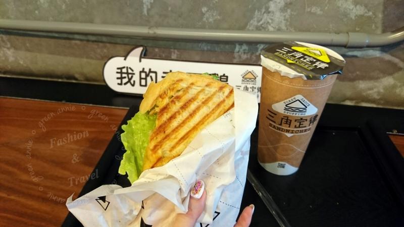 三角定律,三明治帕里尼咬一口就讓人驚豔的土司口感@羅東夜市