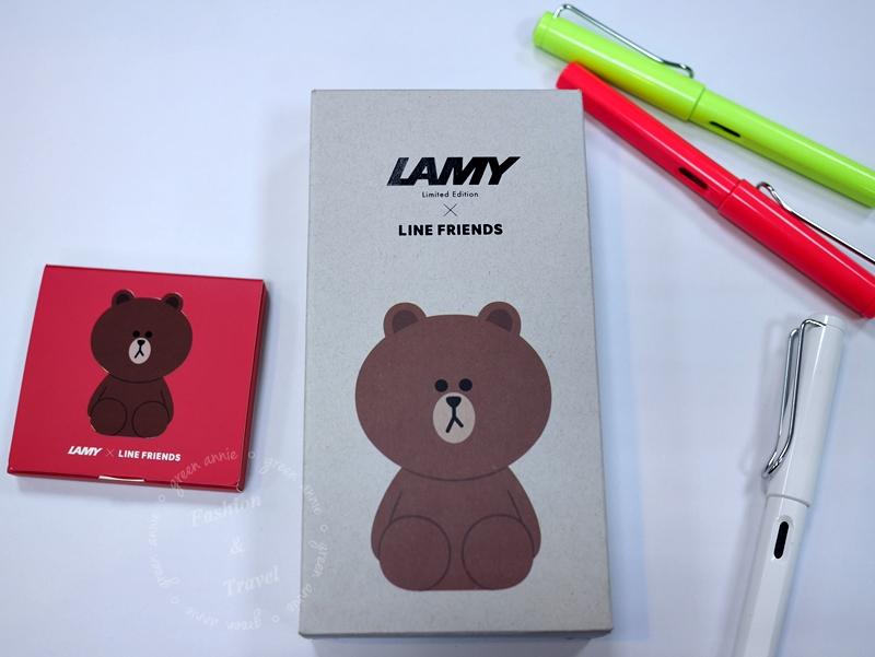 文具控韓國必買,LAMY X LINE FRIENDS 熊大鋼筆@釜山樂天百貨(南浦)
