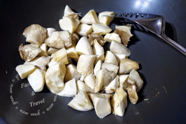 在家簡單煮個麻油杏鮑菇,簡單又美味 @吳大妮。Annie