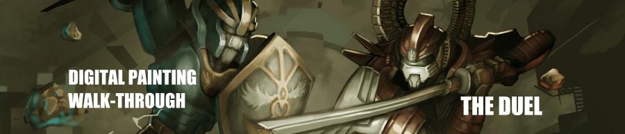 Digital painting GIMP walk-through – The duel
