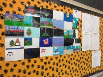 Pictures of designs done by student computer programmers at Lanphier High School
