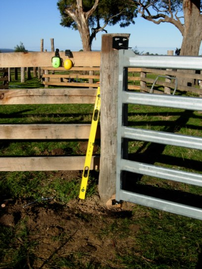Hand-made gates, hinges and latches