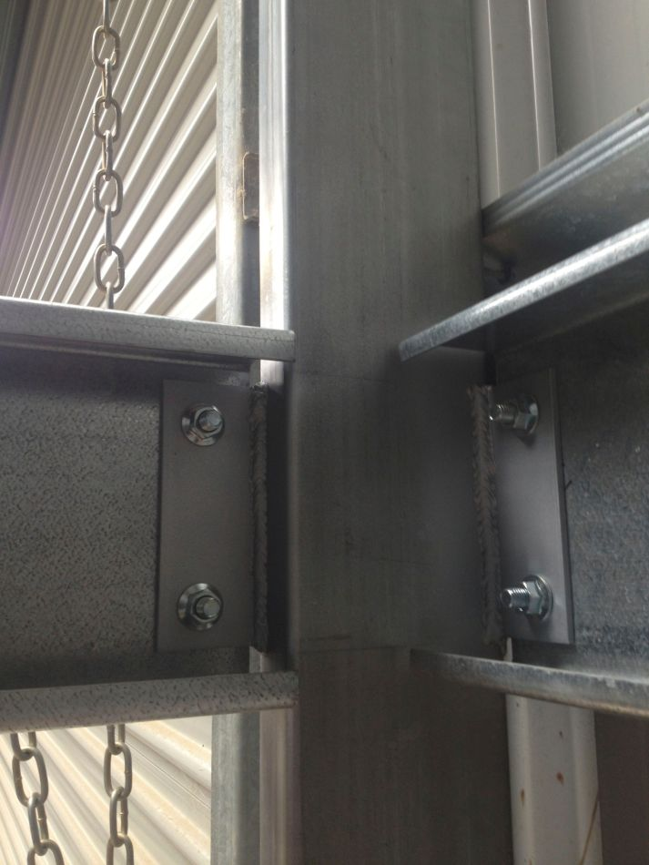 Welded tags to existing columns
