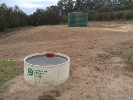 Troughs are gravity fed from the tank