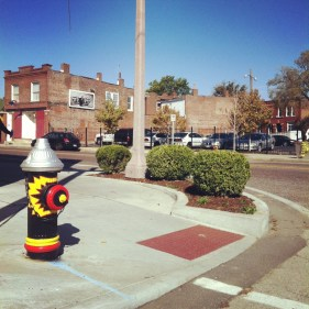 hydrant and landscaping