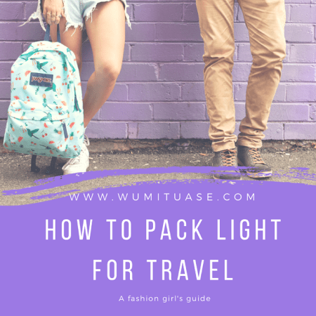 How to pack light for travel Jansport Wumi Tuase