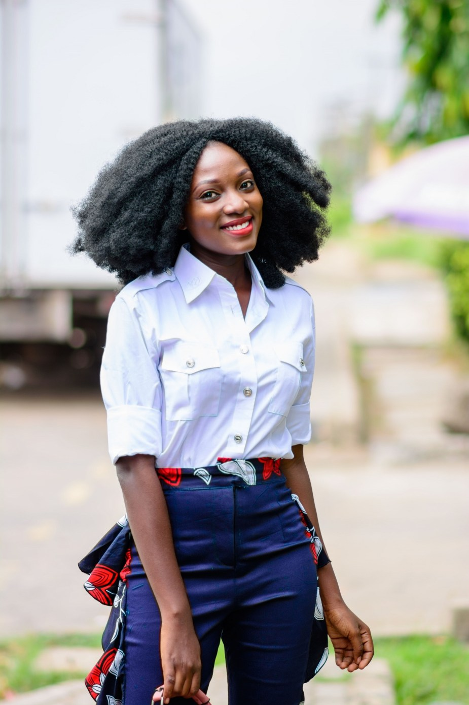 Nigerian Style Blogger Wumi Tuase Statement Pants for Summer