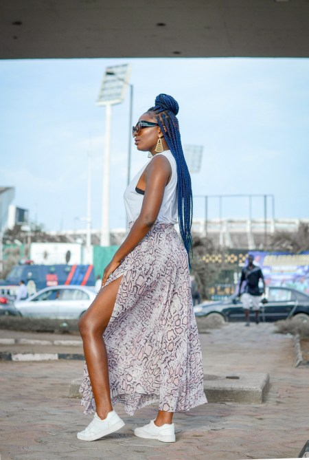 snake skin print trend 2019 how to style snake skin print maxi skirt Fashion Blogger in Nigeria Wumi 'Tuase