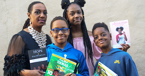 Jennaye Fennell and her three children authors