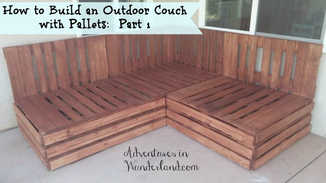 how to build an outdoor couch with pallets: part 1