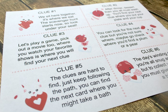Valentines Day Scavenger Hunt For Kids With Printable Clues
