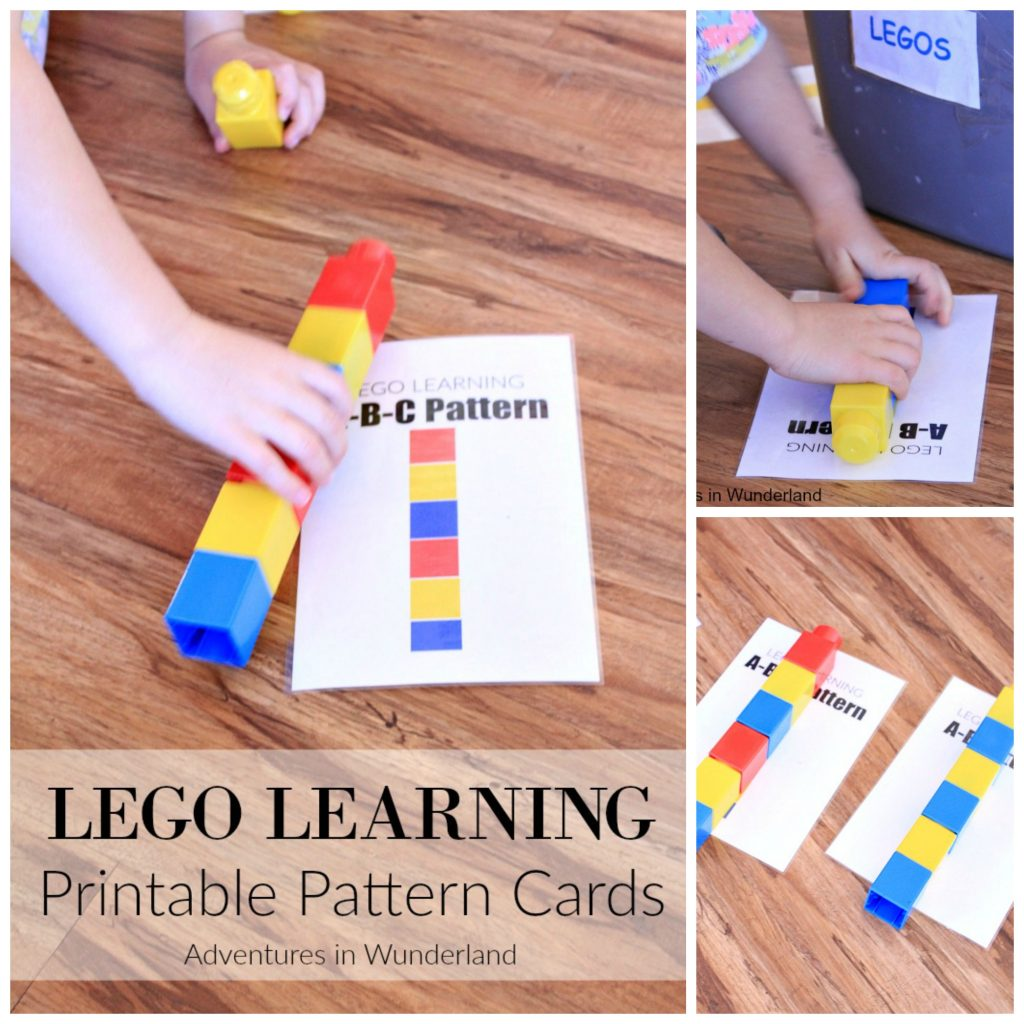 Lego Learning Pattern Printables