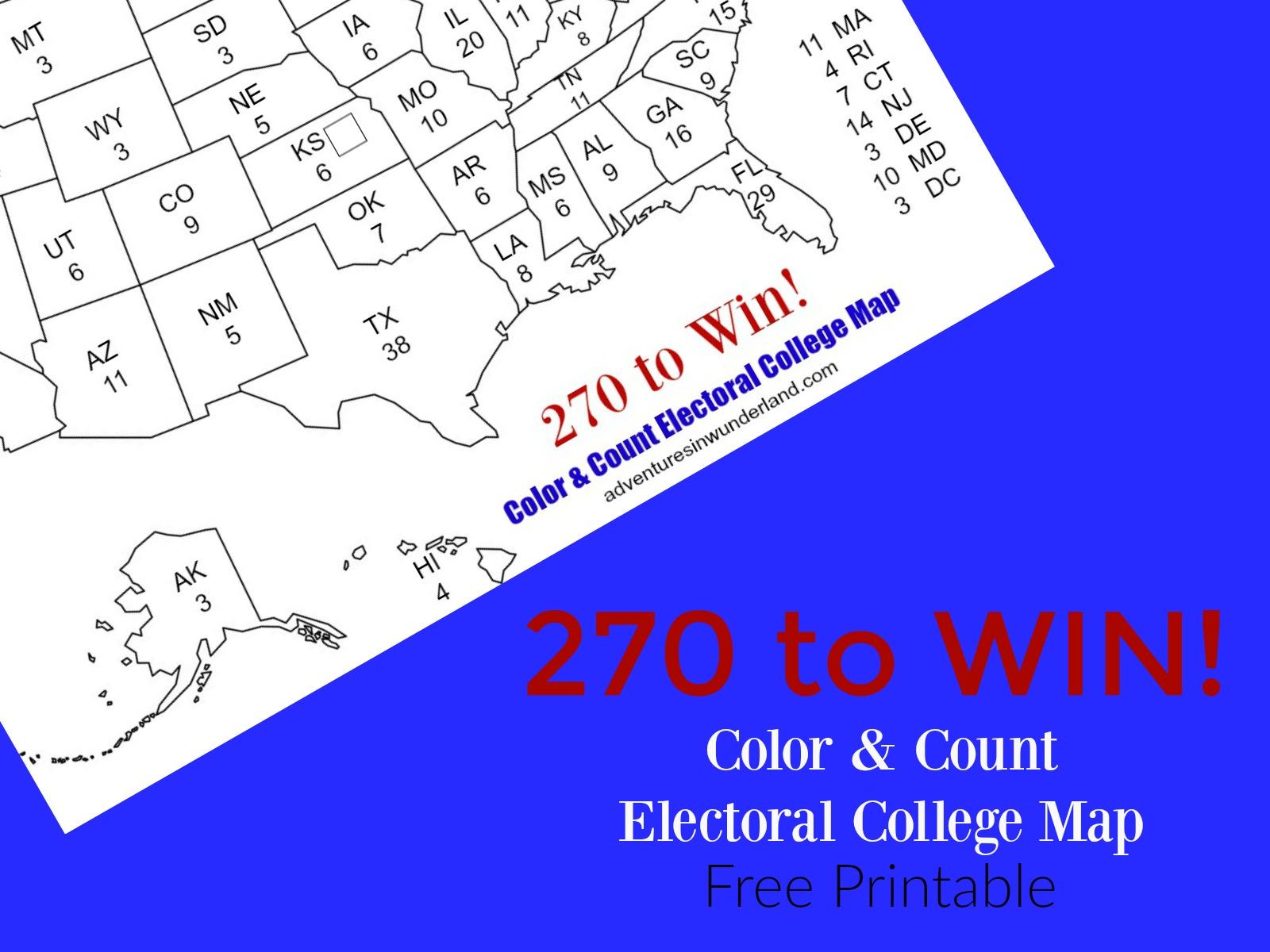 Electoral Map Coloring Page