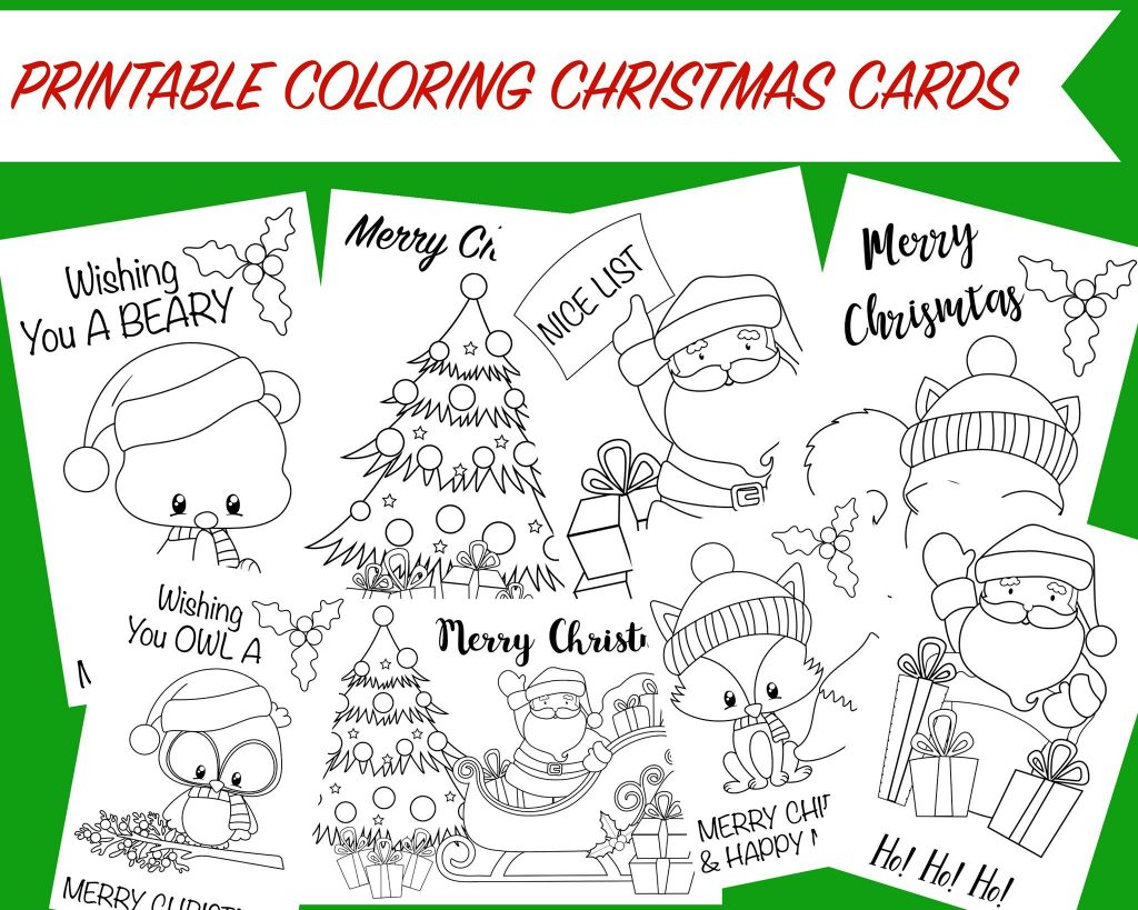 Christmas Coloring Cards