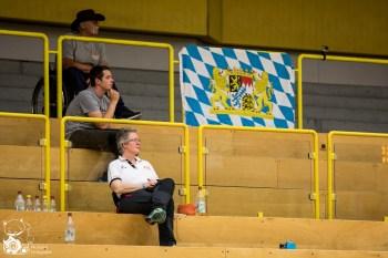 Das Team Bayern schlägt das Team NRW mit 62:29. Kuhberghalle Ulm, Deutschland.