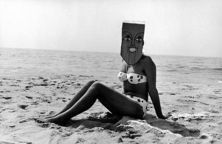 Inge Morath - Mask series with Saul Steinberg