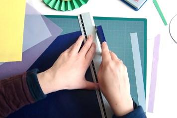 DIY - Cocarde papier bandes - Wundertute