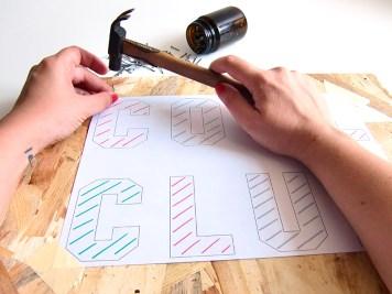 DIY - Tableau au fil clou 2 - Wundertute