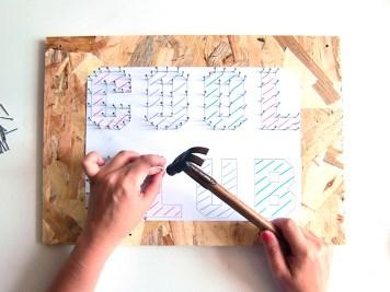 DIY - Tableau au fil clou - Wundertute