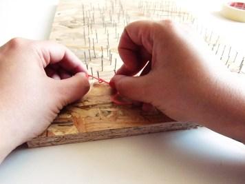 DIY - Tableau au fil noeud - Wundertute