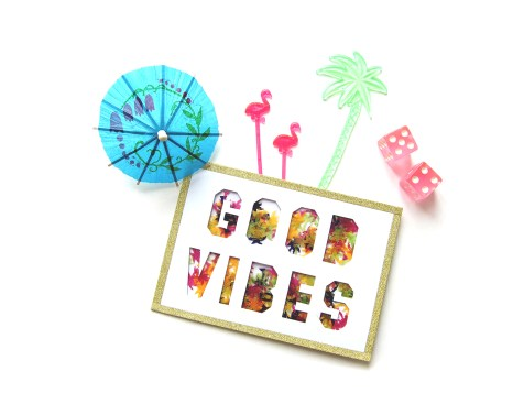 DIY - carte confetti good vibes - Wundertute