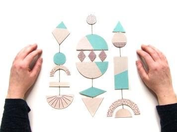 DIY mobile geometrique 8 D - wundertute
