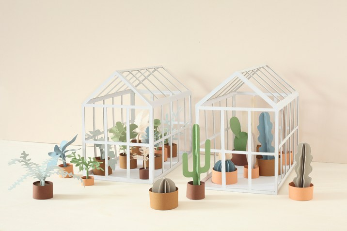 heju - serre plante papier