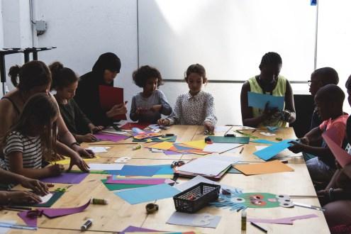 atelier enfant masque papier ensemble - wundertute